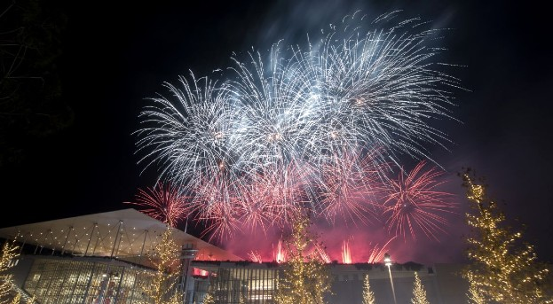 Fireworks SNFCC Greece New Year's Eve 2021