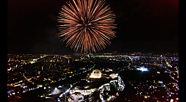 Fireworks Athens New Year's Eve 2016