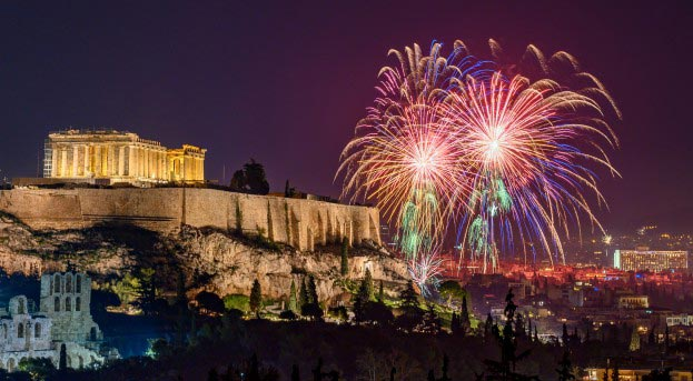 Fireworks New Year's Eve Athens 2020